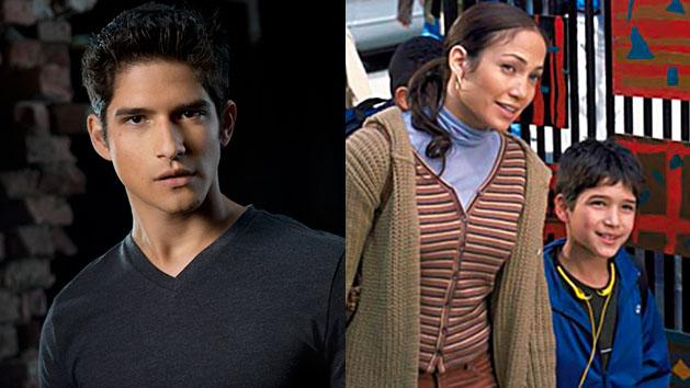 """LEFT: Tyler Posey in """"MTV's """"Teen Wolf"""" Seaosn 3. RIGHT: Jennifer Lopez and Tyler Posey in """"Maid in Manhattan."""""""