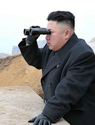 "North Korean leader Kim Jong-Un inspects a military post near the border with South Korea on March 7, 2013. Kim has threatened to ""wipe out"" a South Korean island as Pyongyang comes under new economic and diplomatic fire from US sanctions and UN charges of gross rights abuses"