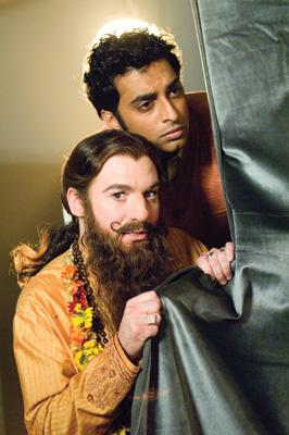 Manu Narayan and Mike Myers in Paramount Pictures' The Love Guru