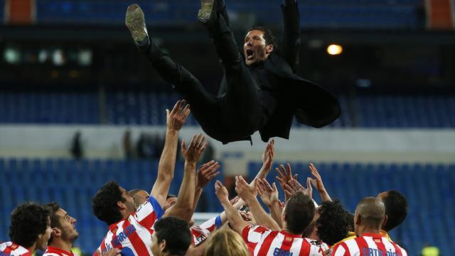 Liga - Simeone invites fans to party as Atletico 'suffering' finally ends