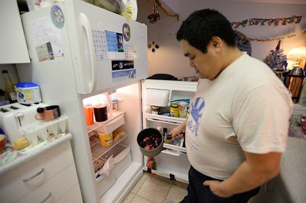 Israel Mablick, an Inuk father of five who can't afford food to feed his family. THE CANADIAN PRESS/Sean Kilpatrick