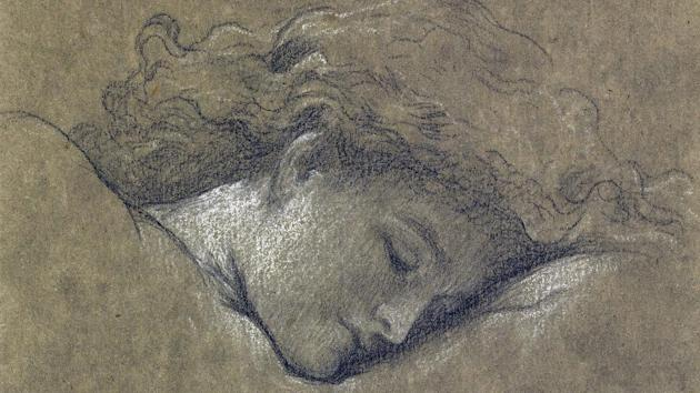 A drawing made in preparation for one of the most famous paintings from the Victorian era - Flaming June - which has been rediscovered after more than 100 years (Sothebys/PA)
