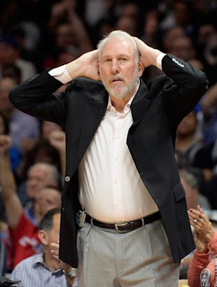 Gregg Popovich prepares for a full eight hours of sleep. (Harry How/Getty Images)