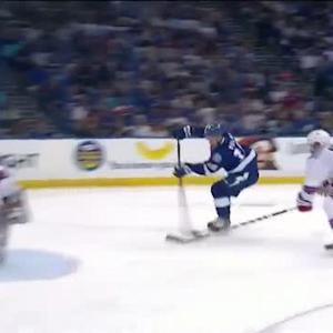 Palat scores off give-and-go setup from Johnson