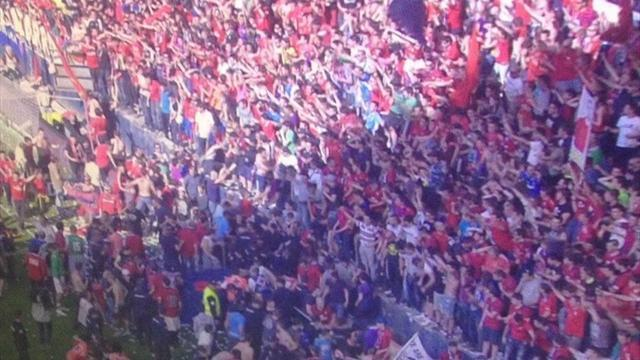 Liga - Valladolid and Osasuna relegated as fans hurt in stadium accident