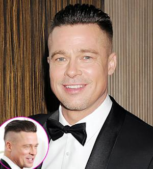 "Brad Pitt Talks Short, Shaved New Haircut: ""It's Not a Choice!"""