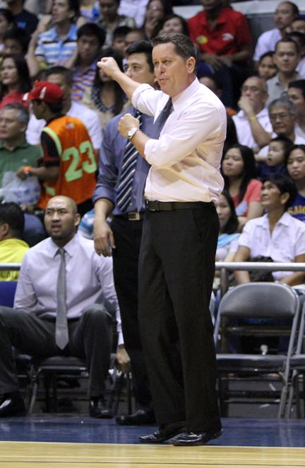 Coach Tim Cone won his first title with B-Meg.