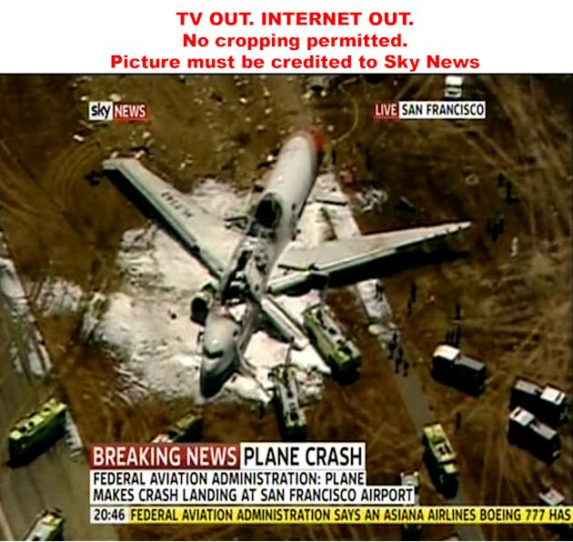 Plane crash at San Francisco airport