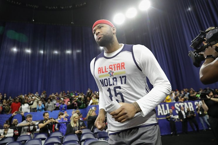 This won't be the last time DeMarcus Cousins wears a NOLA jersey. (Getty Images)