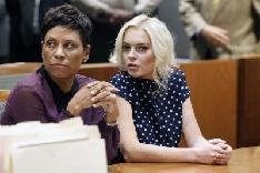 Shawn Chapman Holley, Lohan's attorney, and Lindsay Lohan sit in court during Lohan's probation violation hearing at the Airport Courthouse in Los Angeles on November 2, 2011  -- Getty Images