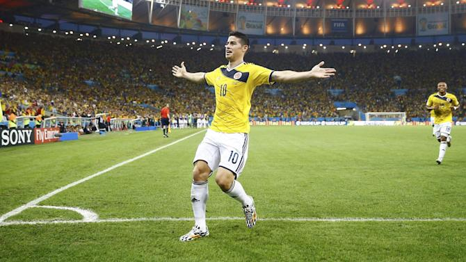 World Cup - Genius Rodriguez fires Colombia past toothless Uruguay