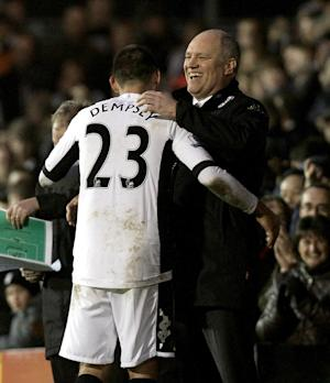 Clint Dempsey (left) and Martin Jol