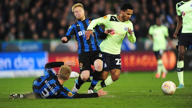 Europa League - Newcastle fight back to draw at Club Brugge