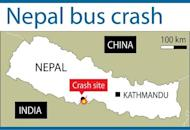 Map showing the area where an overcrowded bus carrying Hindu pilgrims from India to southern Nepal swerved off a highway and plunged into a deep river