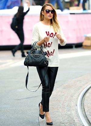 Who Wore the Holiday Sweater Best: Lauren Conrad or Cheryl Cole?