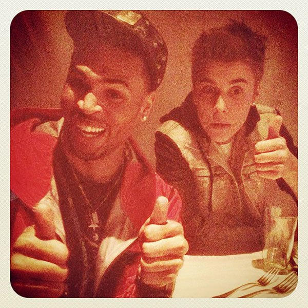 Justin Bieber & Chris Brown's Bro Date After The Billboard Awards