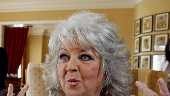 FILE - In this Dec. 30, 2010 file photo, Paula Deen speaks in Pasadena, Calif. Sears Holdings Corp. announced Friday, June 28, 2013, that it is cutting ties with Southern celebrity chef Deen, adding to the list of companies severing their relationship following revelations that Deen used racial slurs in the past. (AP Photo/Nick Ut, File)