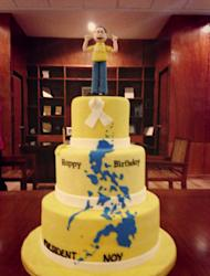 The President's Birthday Cake by: The Malacañang Chefs (Photo from RTVM Fanpage on Facebook)