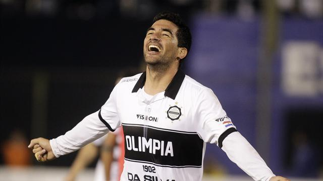 South American Football - Olimpia seize control of Copa Libertadores semi-final