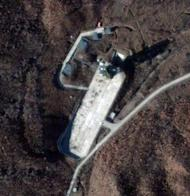 "Satellite image courtesy of DigitalGlobe shows North Korea's Sohae Satellite Launch Station on November 26. Pyongyang insists the planned launch in December of a rocket is a ""peaceful"" and purely scientific mission aimed at placing a satellite in orbit."