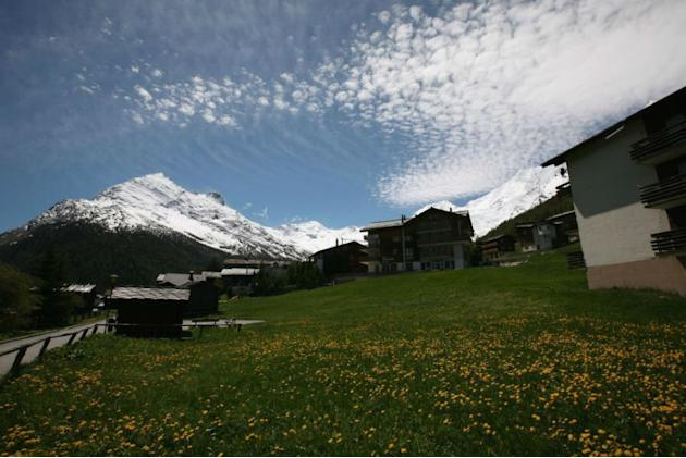 A general view of the village in Saas-Fee, Switzerland.