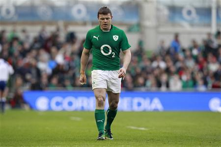 Ireland's Brian O'Driscoll leaves the field after beating Italy in the Six Nations rugby union match at Aviva stadium in Dublin