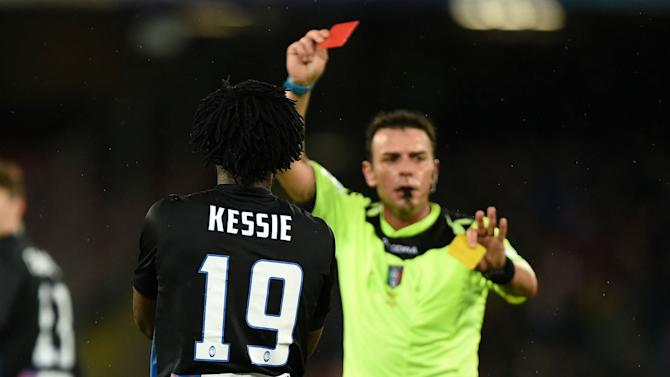 Manchester United and Arsenal target Kessie sent off in Italy
