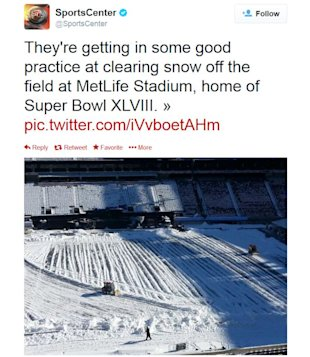 Super Bowl XLVIII Location Stimulates Social Media Conversations image Super Bowl location weather Tweets1