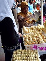 Golden delicacies: Bakpia, the most wanted cake in Yogyakarta. (