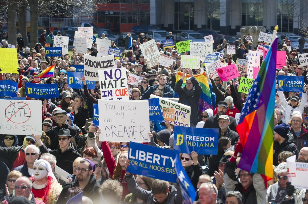 Indiana governor: New law 'not about discrimination'