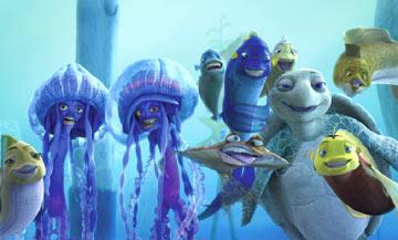 Oscar's many admirers in Dreamworks' Shark Tale
