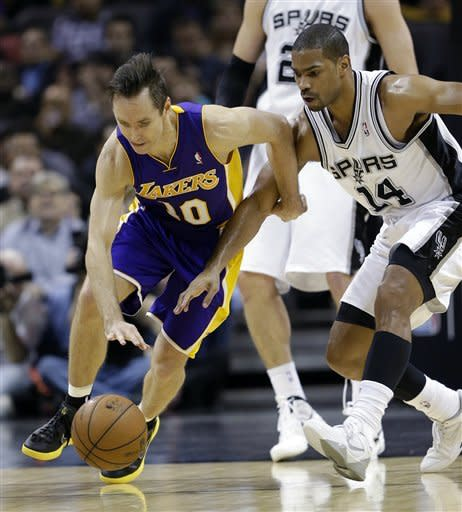 Parker scores 24 as Spurs beat slumping Lakers