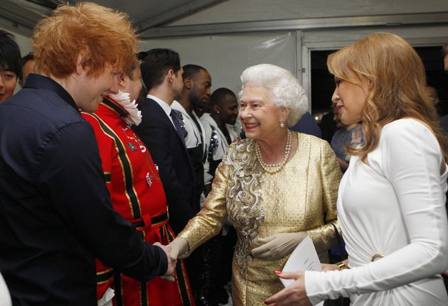 Ed Sheeran, Queen, backstage, Diamond Jubilee Concert