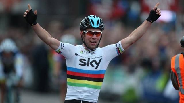 Cavendish takes Tour of Britain lead with second stage win