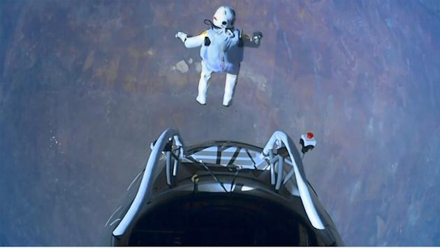 Felix Baumgartner jumped from the platform of his capsule 24 miles above Earth in an extraordinary feat watched by millions worldwide in October. The 43 year old took 9.03 minutes to reach Earth, brea