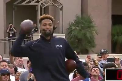 Odell Beckham Jr. sets 1-handed catch Guinness World Record with DrewBrees