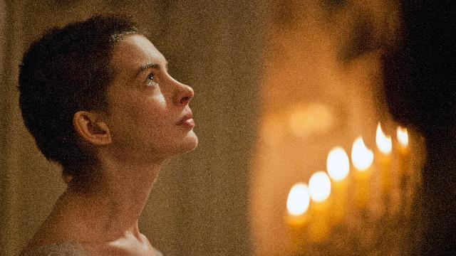 "This film image released by Universal Pictures shows actress Anne Hathaway portraying Fantine, a struggling, sickly mother forced into prostitution in 1800s Paris, in a scene from the screen adaptation of ""Les Miserables.""  Hathaway was nominated Thursday, Dec. 13, 2012 for a Golden Globe for best supporting actress for her role in ""Les Miserables.""  The 70th annual Golden Globe Awards will be held on Jan. 13. (AP Photo/Universal Pictures, Laurie Sparham)"