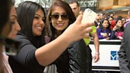 Bollywood star Ileana D'Cruz greets fans at Vancouver International Airport on Thursday ahead of the opening night extravaganza.