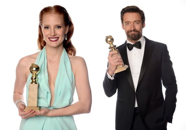 Jessica Chastain und Hugh Jackman: Golden Globe in der Königskategorie. (Bilder: Getty Images)