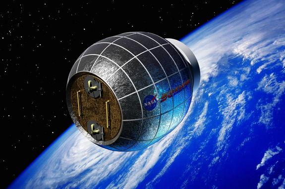Artist's conception of the private-sector supplied Bigelow Expandable Activity Module (BEAM) to be launched around the summer of 2015.