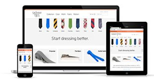 10 Awesome Examples of Ecommerce Sites Using Responsive Web Design image skinny ties rwd