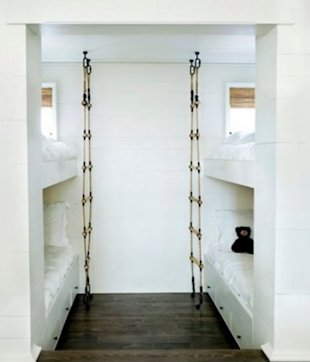 Fun space with bunk beds and these great ladders.