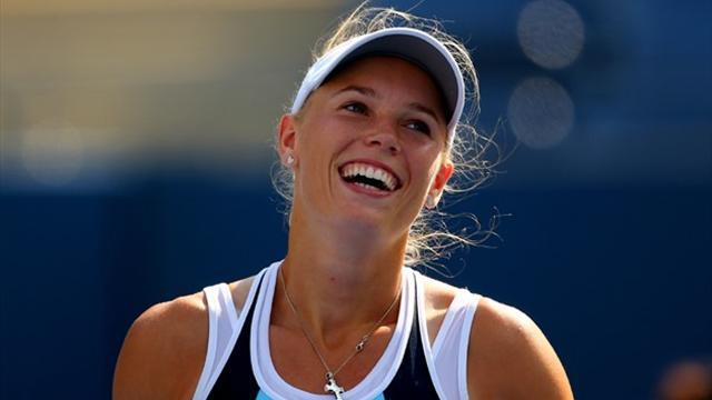 US Open - Wozniacki survives tough battle with Chinese qualifier