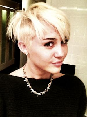 Miley Cyrus shows off new pixie cut on August 12, 2012  -- Twitter