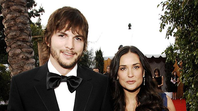 Ashton Kutcher and Demi Moore at the 13th Annual Screen Actors Guild Awards.