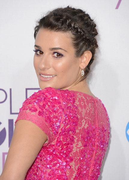 Lea Michele wearing barely-there diamonds