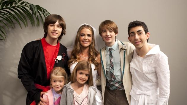Denise Richards and her daughters with the cast of 'Kickin' It!' -- Disney XD/Adam Rose