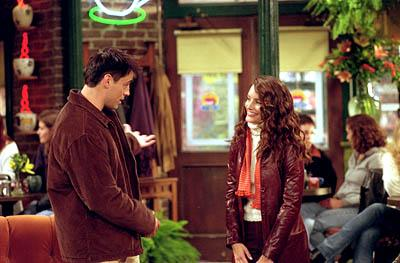 "Matt LeBlanc and Kristin Davis in ""The One With Ross' Library Book"" in NBC's Friends"