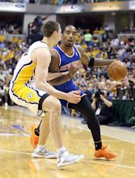 New York Knicks' J.R. Smith is pictured during their game against the Indiana Pacers on May 14, 2013. He missed eight of his first nine shots and finished just seven-of-22 from the floor for 19 points