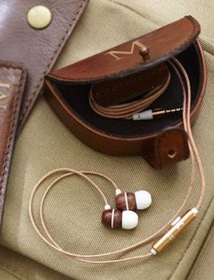 Saddle leather earphone case